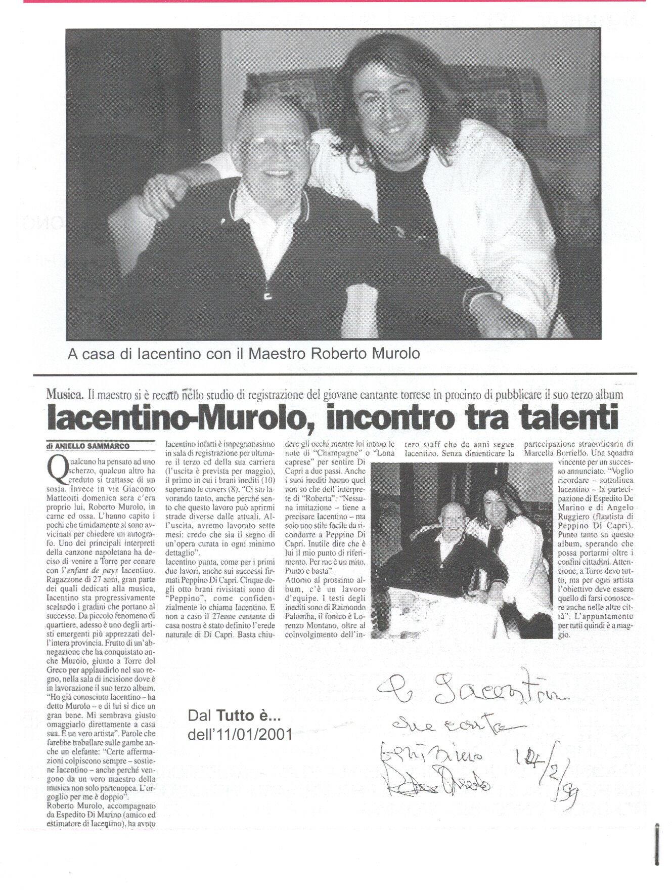 Iacentino - Murolo : incontro tra talenti