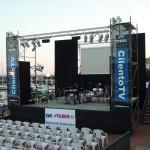 Palco montato per il concerto di Marina di Camerota - 5 Giugno 2010
